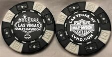 Las Vegas Harley-Davidson® in Las Vegas, NV Collector Poker Chip Black/White NEW