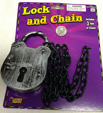 Steampunk Cosplay Prisoner Costume-JUMBO LOCK CHAINS-Medieval Dungeon Jail Props