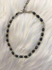 Authentic Vintage Bogoff Necklace Black Crystal Rhinestone Art Deco Style Jewel