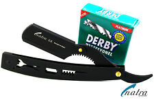 Shaving Razor Blue + 100 Derby Blades men shave knife beard Stainless steel
