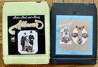 2 lot 8-Track tapes Peter, Paul And Mary Album/The Best 10 Years Together