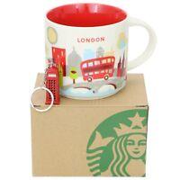 Starbucks London Mug You Are Here Series YAH 14oz NEW in Box, London Keychain