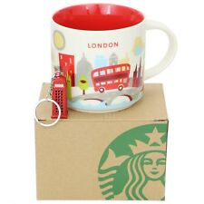 Starbucks London Mug You Are Here Series YAH 14oz NEW in Box, London Keychain