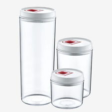 PlastArt145 Pantry Food Storage Container Set With Vacuum Lid, 6-Piece, Clear