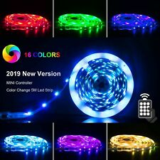 LED Light Strips With Remote Rope Color Changing RGB For PC Desk Smart String
