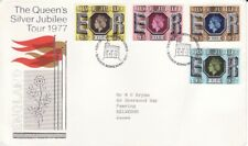 1pc First Day Cover Queen's Silver Jubilee Tour 1977 England Royal Mail Stamp
