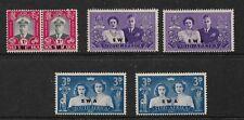 1947 Royal Visit set 1 Pair 4 singles Complete Mint Hinged