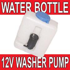Universal 12 Volt Windscreen Washer Pump Water Bottle