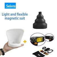 Selens Universal Magnetic Flash Modifier Diffuser snoot + Bounce + Filter Kit
