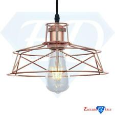Industrial Vintage Wire Cage Ceiling Pendant Retro Lamp Light Shade Rose Copper