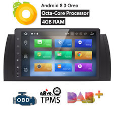 9'' Android 8.0 Car Multimedia GPS Navi Radio 4GB RAM for BMW E39 E53 X5 TPMS