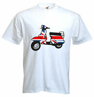 MOD SCOOTER T-SHIRT - Union Jack Scooters Target The Who Jam Mods