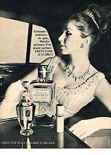 PUBLICITE ADVERTISING 044  1966  JEAN D'ALBRET  parfum  PRINCESSE