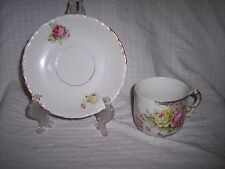 Antique - Cup & Saucer - Rose Pattern