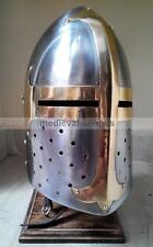 Medieval Sugarloaf Knight Armor Crusader Armour Ancient Larp New Templar Helmet