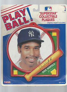 PLAYBALL SUPERSTAR COLLECTIBLE MLB PLAQUE DAVE WINFIELD NEW YORK YANKEES VF