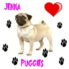PERSONALISED  Drinks Coaster for the PUG Lover in Your Life Novelty Keepsake