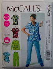 McCalls Sewing Pattern 6473 Womens Uniforms Scrubs Top Pants Size 18 - 24  EASY