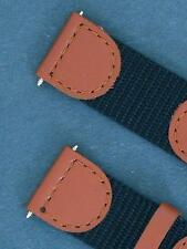19mm Brown / Black Leather/Nylon Watch Strap/ Watch Band Fits Swiss Army