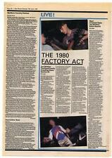 Joy Division Blurt ACR OMD concert reviews NME Cutting 1980