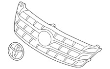 Toyota 53101-AC030-B1 Radiator Grille Sub Assembly