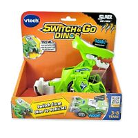 Vtech Switch and Go Dinos Sliver the T-Rex Green Dinosaur Transforming Car NEW