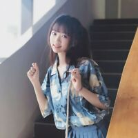 Lady Girl Kawaii Shirt Short Sleeve Top Blouse Cat Lolita Sweet Japanese Fashion