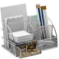 Office Desk Organizer for Supplies & Accessories - Mesh Desktop Organization