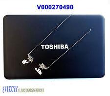 """NEW Toshiba Satellite C855 C855D LCD Back Cover 15.6"""" V000270490 Black W Hinges"""
