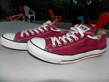 2000 Maroon Leather Low Canvas Coverse Men's 11 FREE SHIPPING (used)