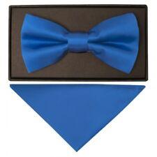 Controllo DQT Tinta Unita Blu Navy Matrimonio Pre-Legato Da Uomo Cravatta /& Fazzoletto Set