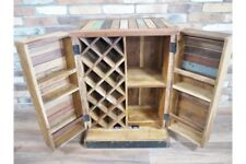 Medium Reclaimed Wood Home-Bar Drinks Cabinet Industrial Style Wine Storage Unit