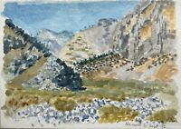 Karl Adser 1912-1995 View IN The Landesinnere Nanou Bay Symi Greece Hellas