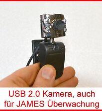 USB CAMERA KAMERA LED LICHT SCHNAPPSCHUSSFUNKTION FÜR JAMES ÜBERWACHUNGSANLAGE