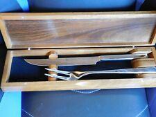 Wusthof Stainless Steel Knife & Fork Set in Wood Case