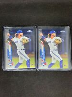 Lot of (2) 2020 Topps Chrome Bo Bichette Rookie Cards RC #150 TORONTO BLUE JAYS
