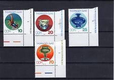 Mi.Nr. 2835 - 2838 mit Randstreifen mit Druckvermerk  , Thüringer Glas