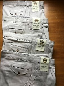 Pack of 4- Savane Trousers Cotton Beige Pleated Waist 97s Ex-display To Clear