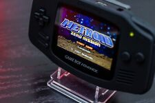 Custom GameBoy Advance - IPS v2 display with matt black shell. Rechargeable!