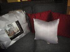 Jcp Studio Urban Gray Burgundy (7Pc) Reversible Queen Comforter Set & Pillows