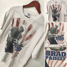 Brad Paisley Playing Guitar American Rays Country Music Band T- Shirt XL