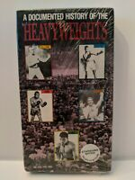 NEW A Documented History of Heavyweights VHS Sullivan Dempsey Lois Marciano Ali