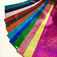 "Holographic Sequins Sign Vinyl Sample Pack, 12 Sheets, 8"" x 12 Inch"