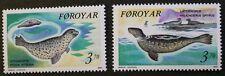 Sellos sellos, 1992, Gris, sello común, Islas Feroe, SG Ref: 227 y 228, estampillada sin montar o nunca montada