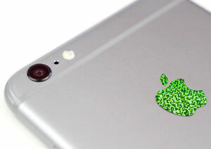 Glitter Green Color Overlay for Apple iPhone X XS XR and XS Max Logo Decal