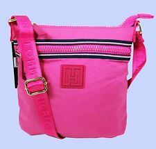 TOMMY HILFIGER Active Nylon Flat Rose Violet Small Cross-Body Bag Msrp $68.00