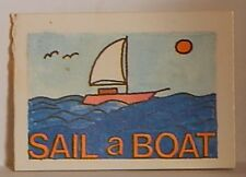 VINT CRACKER JACK PRIZE 1980 SAIL A BOAT TRACING BOOK