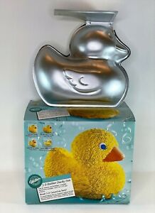 Wilton 3-D Rubber Ducky Cake Pan Baby Shower Birthday 2105-2094 Box/Instructions
