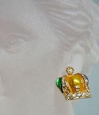 Mardi Gras Jeweltone Crown Earrings (MGE28)