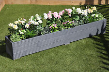 2 Metre Long Wooden Garden Planter Trough Hand Made Great Veg Bed Painted Grey